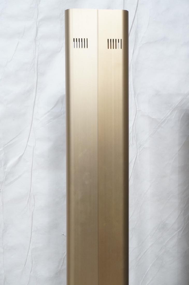 Pr Tall Modernist Gold Aluminum Floor Lamps. Thin - 7
