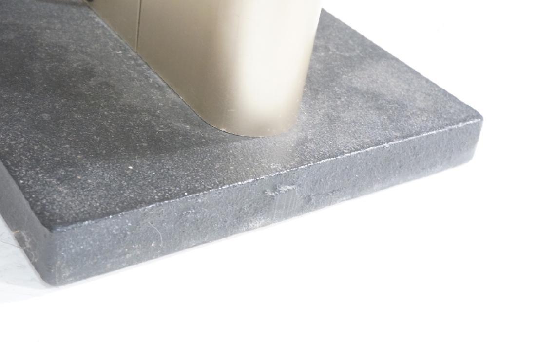 Pr Tall Modernist Gold Aluminum Floor Lamps. Thin - 9