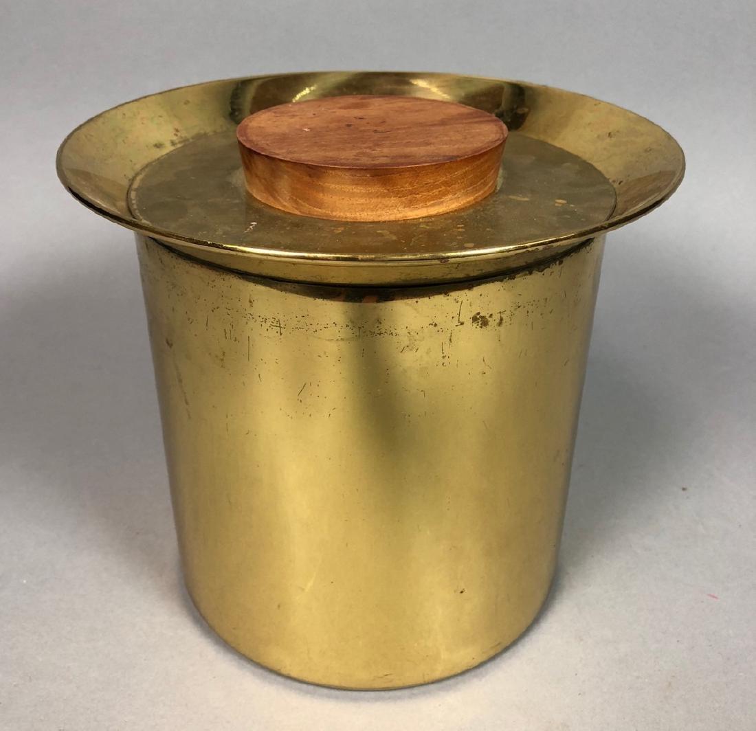 Modern Italian Modern Brass Ice Bucket.  Flared l