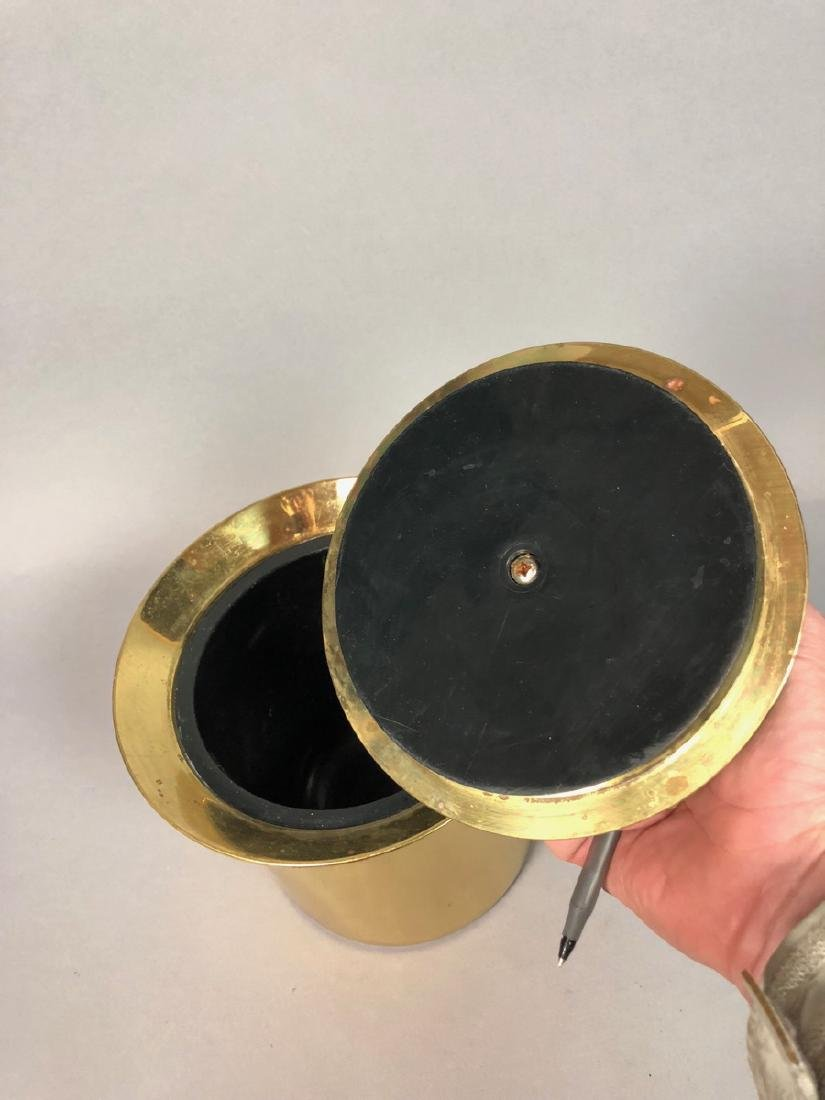 Modern Italian Modern Brass Ice Bucket.  Flared l - 2