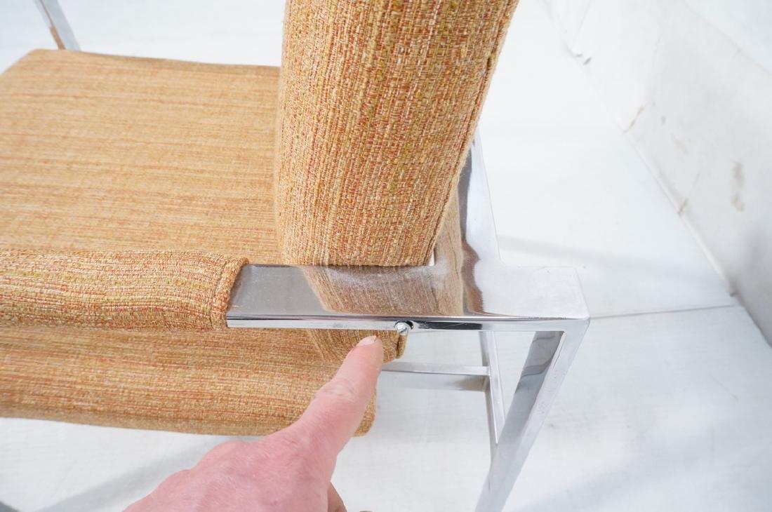 Pr Milo Baughman Chrome Lounge Chairs. Wide flat - 10