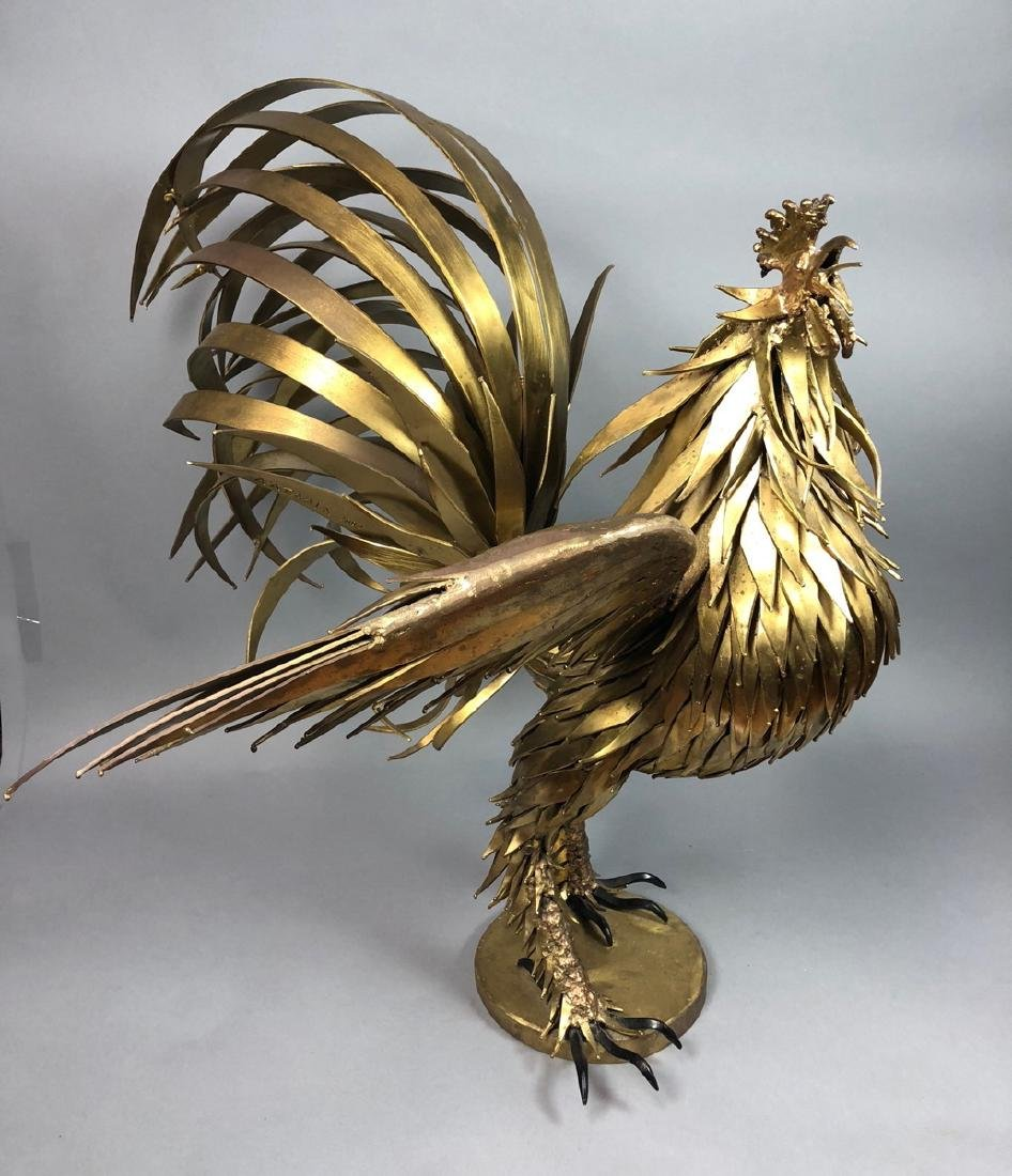 Signed Large Oversized Brutalist Metal Rooster Sc