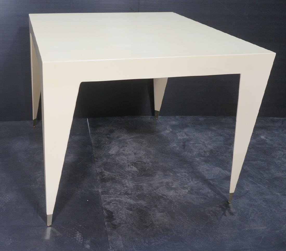 Square Lacquered Small Dining Cafe Table. Clean M