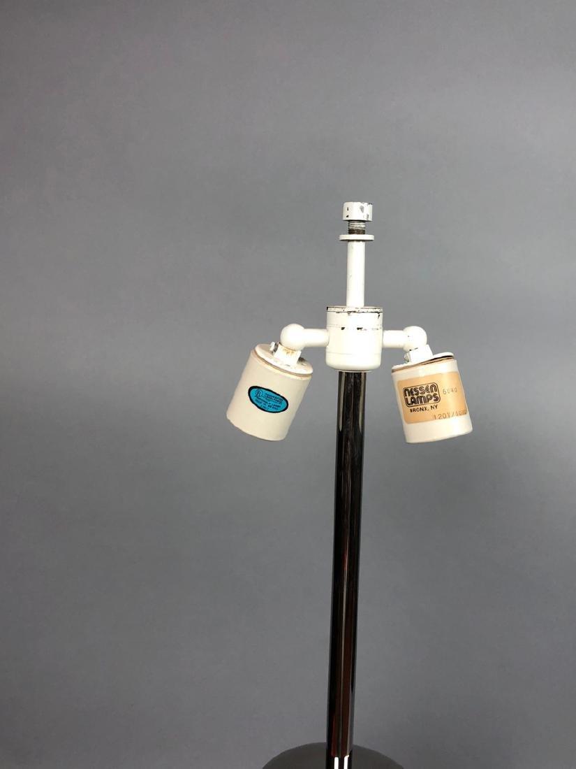 NESSEN  Modern Chrome Column Table Lamp. Marked - 6