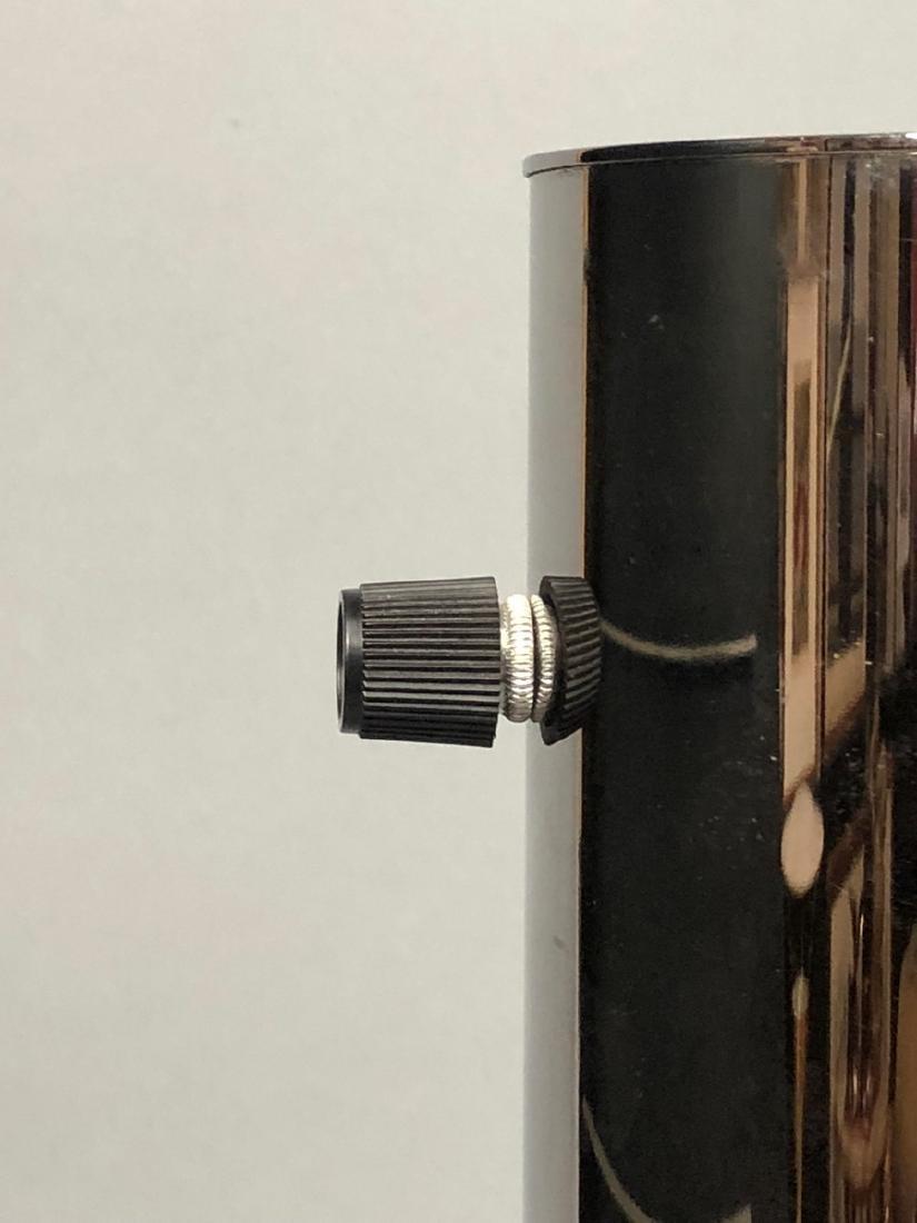 NESSEN  Modern Chrome Column Table Lamp. Marked - 7