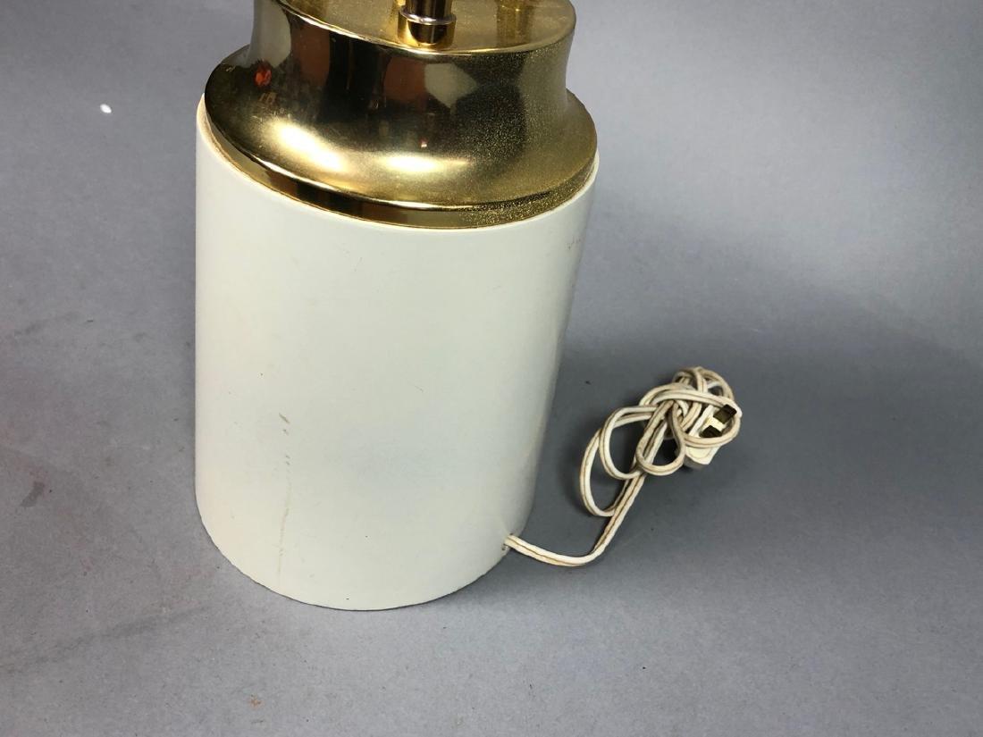 Modern Parzinger Style Cream & Brass Tall Table L - 6