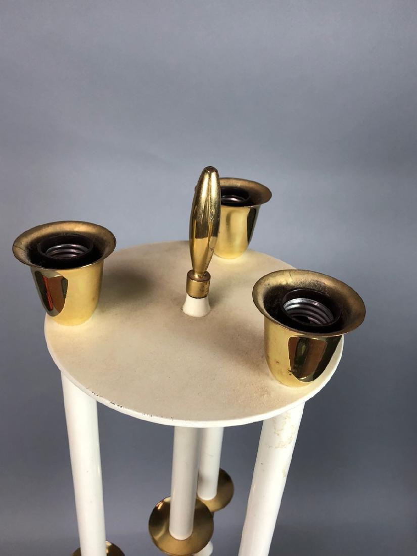 Modern Parzinger Style Cream & Brass Tall Table L - 8