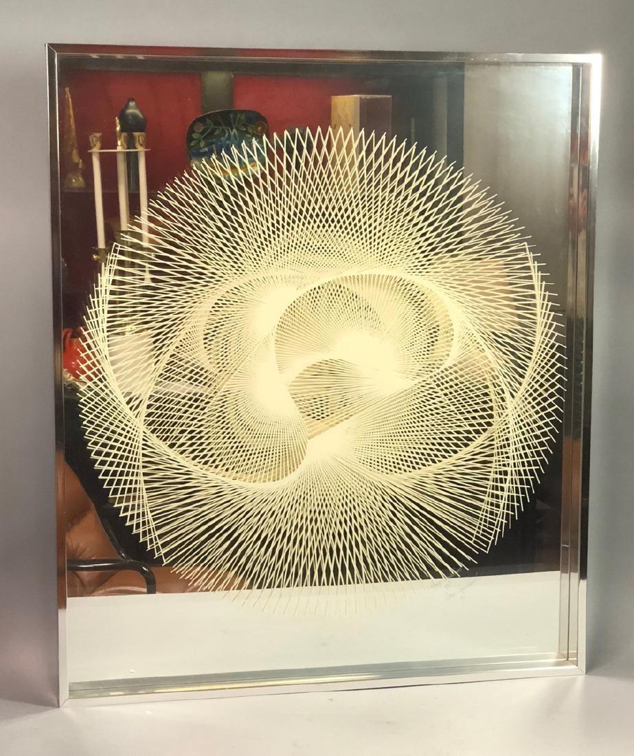 GREG COPELAND Modernist OP ART Mirror. Two layere