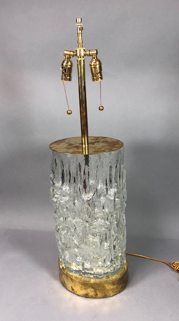 Large TAPIO WIRKKALA Sculptural Glass Lamp. Brass - 2