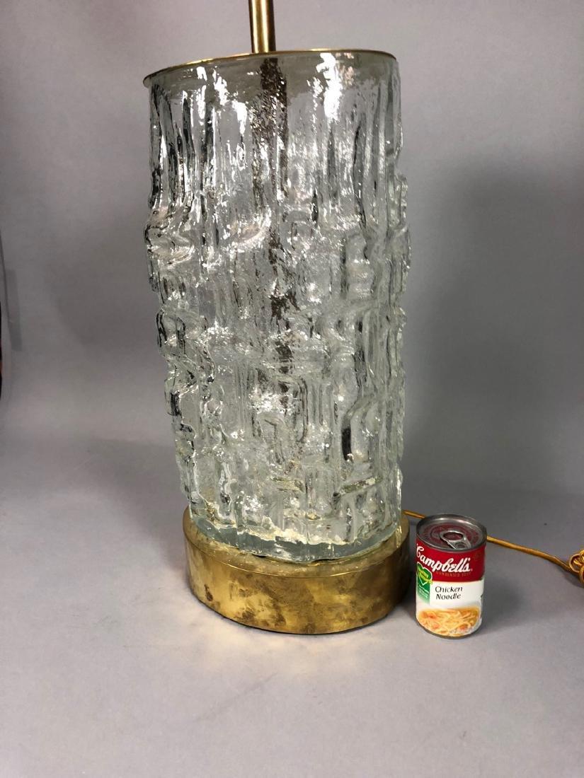 Large TAPIO WIRKKALA Sculptural Glass Lamp. Brass - 4