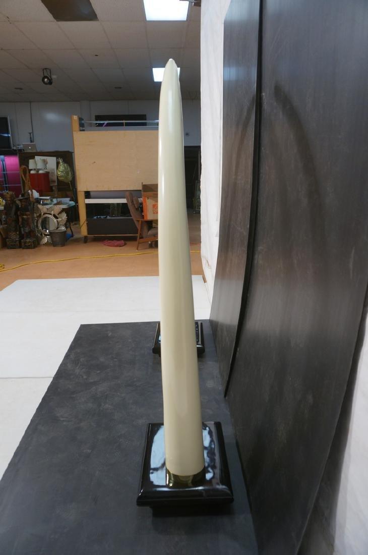 6' Tall Oversized Faux Ivory Tusks.  Large Decora - 4