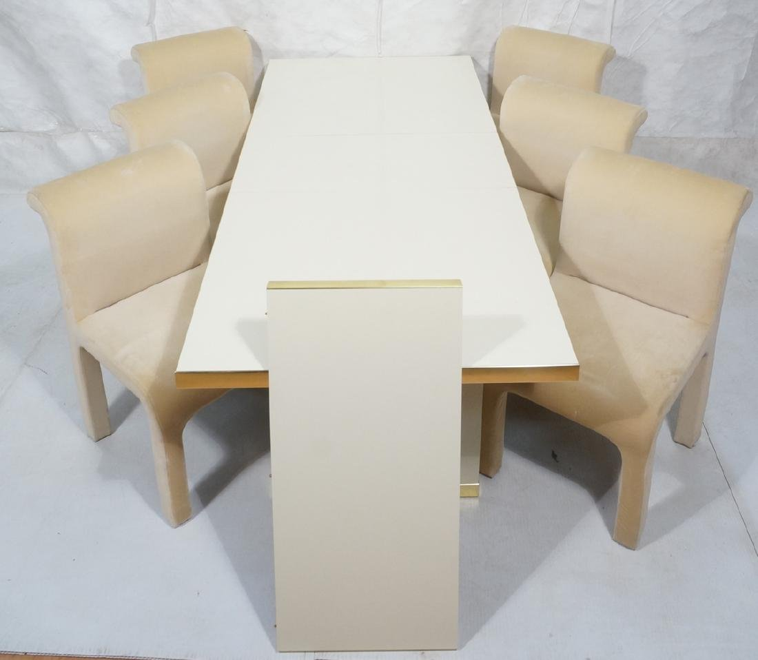 7pc PIERRE CARDIN Modern Dining Table & Chairs. L