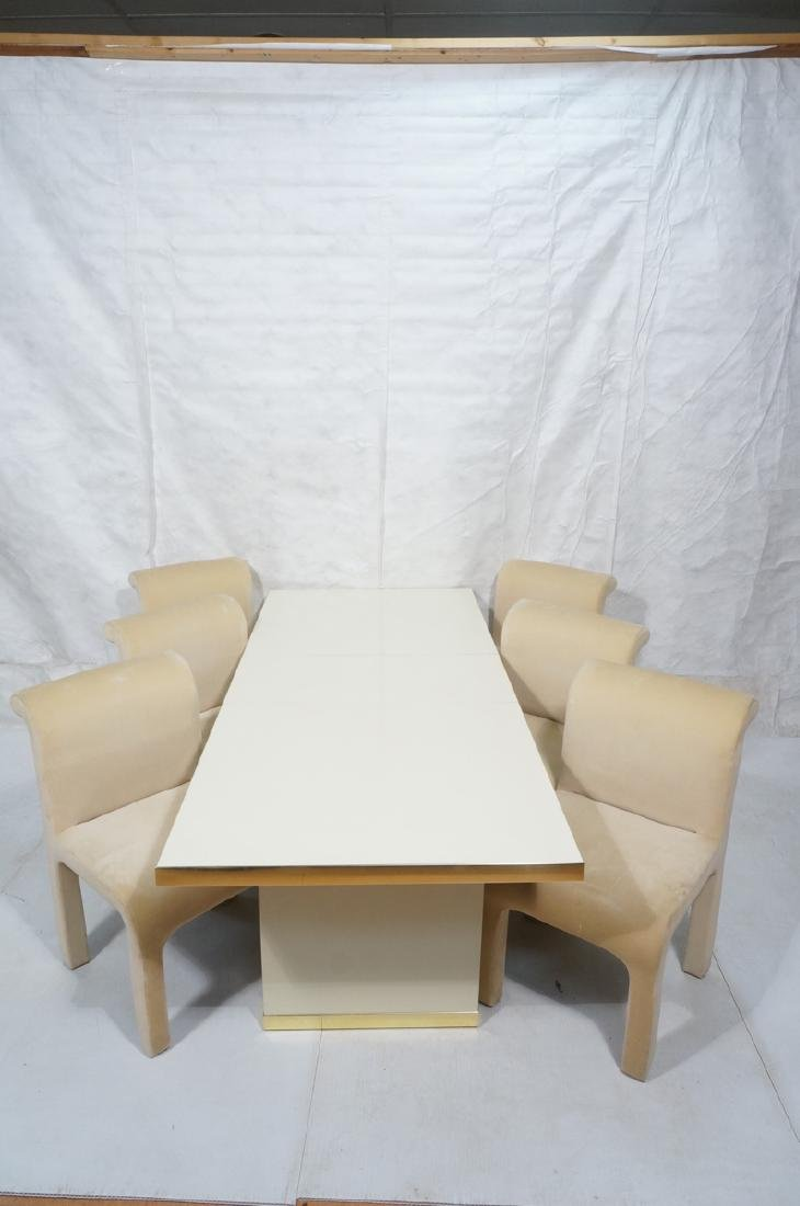 7pc PIERRE CARDIN Modern Dining Table & Chairs. L - 2