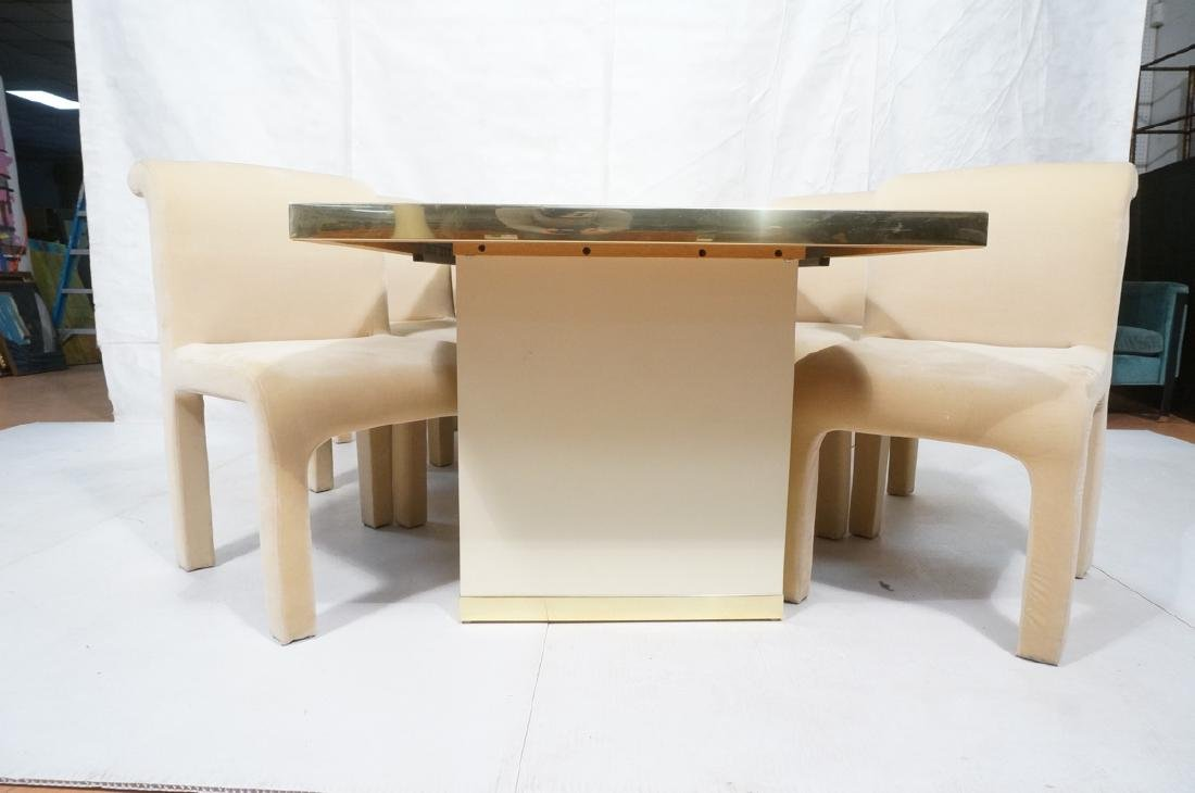 7pc PIERRE CARDIN Modern Dining Table & Chairs. L - 3