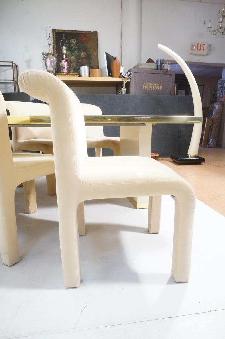 7pc PIERRE CARDIN Modern Dining Table & Chairs. L - 6