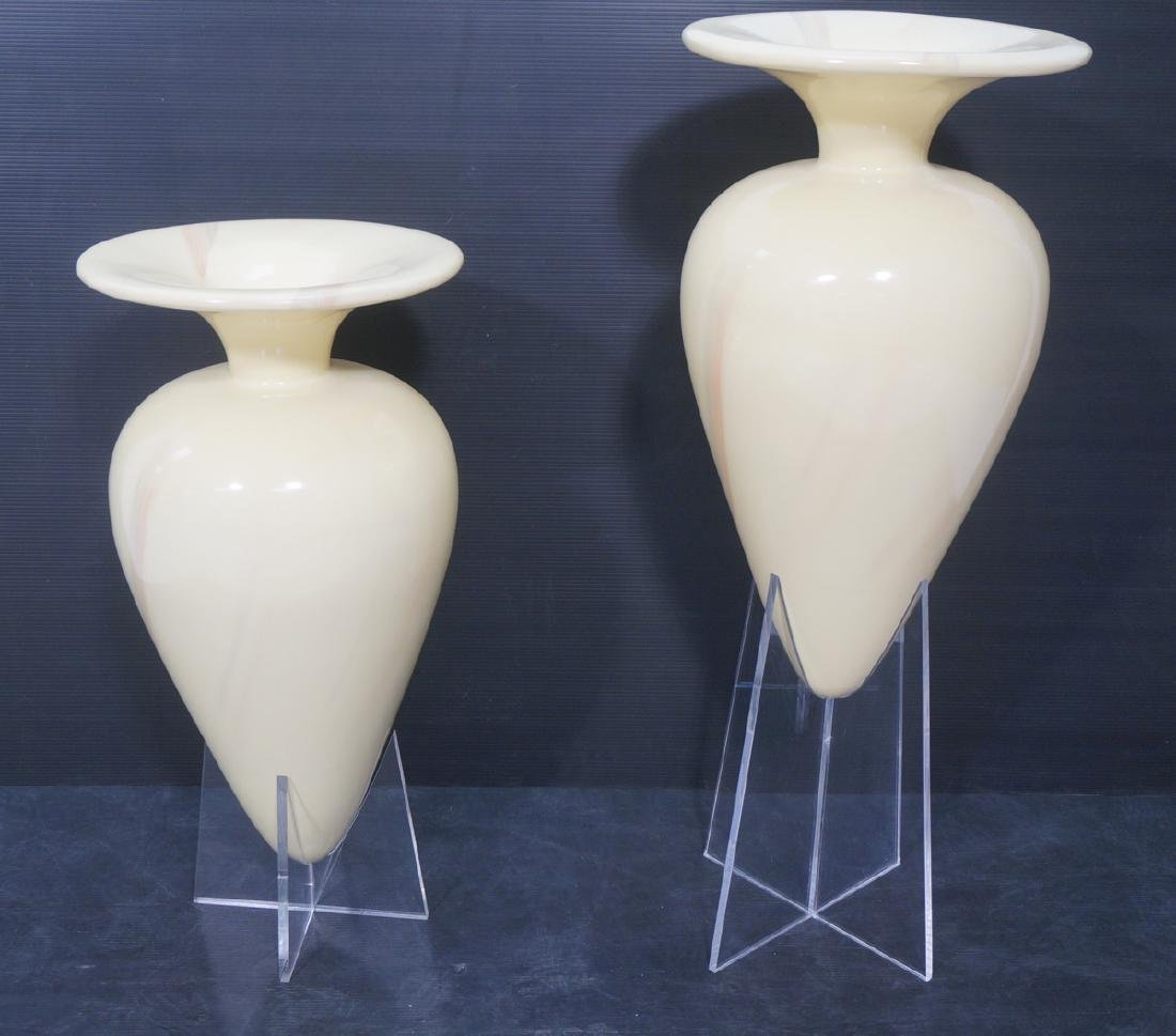 Pr Decorator Oversized Lacquered Floor Urns. Diff