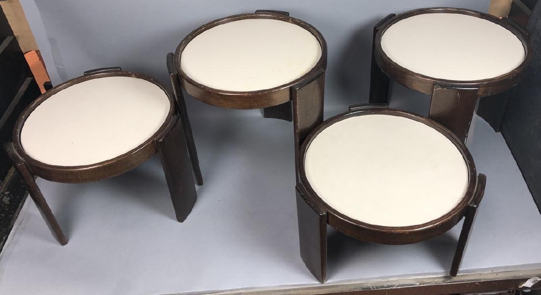 Set CASSINA Stacking Nesting Modern Tables. Rever