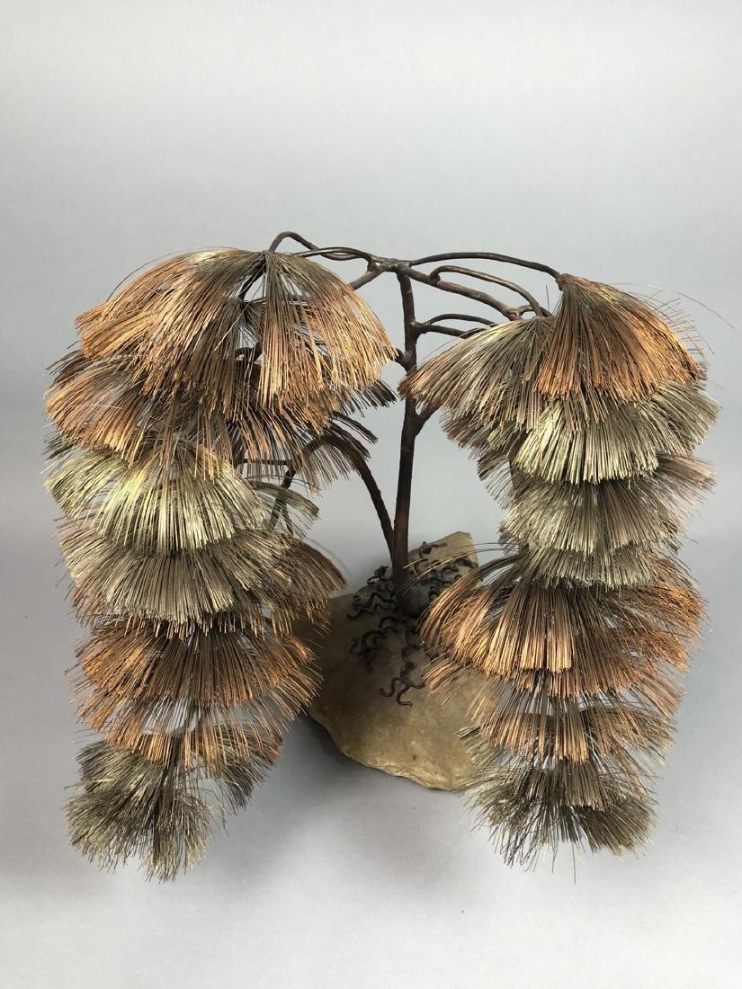 JOHN STECK Brutalist Modern Mixed Metal Tree Sculpture. - 3