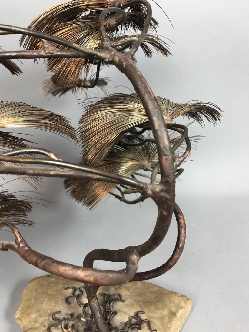 JOHN STECK Brutalist Modern Mixed Metal Tree Sculpture. - 8