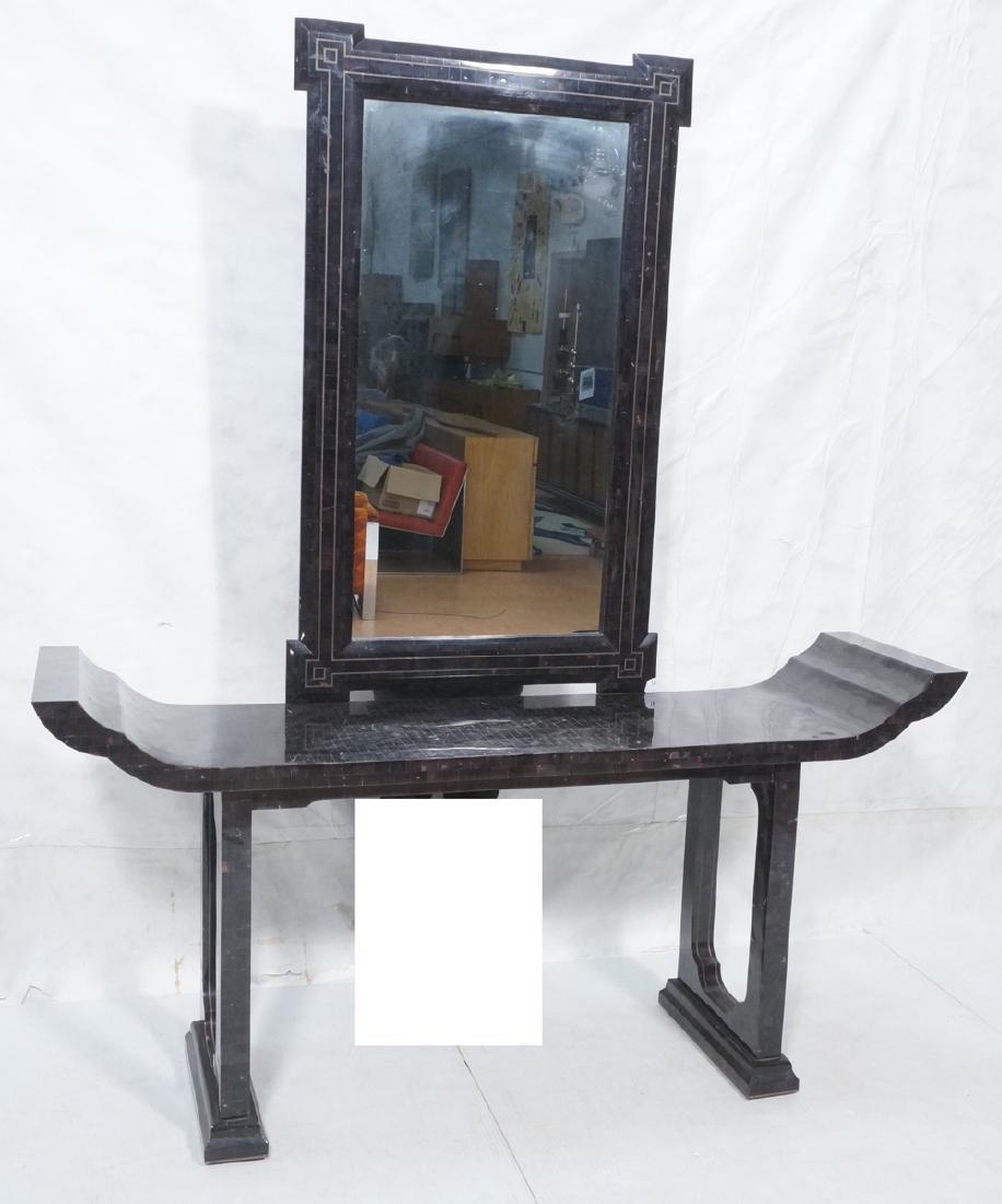2pc Tesserae Horn Console Table & Mirror. Maitlan