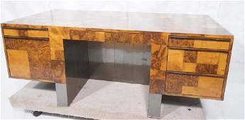 PAUL EVANS Cityscape Burl Wood Executive Desk. La