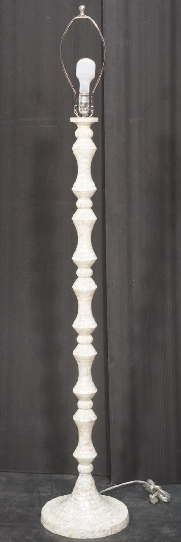 Tall Mother of Pearl Tesserae Tile Floor Lamp. Mo