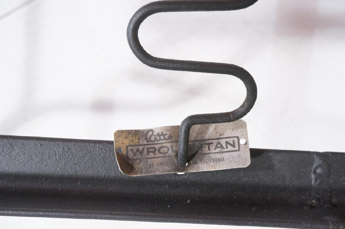 3pc Black Iron Lounge Chair, Love Seat.  Metal ta - 8