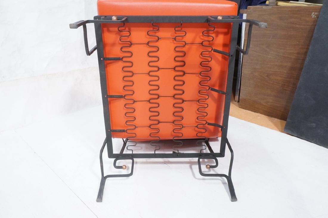 3pc Black Iron Lounge Chair, Love Seat.  Metal ta - 9