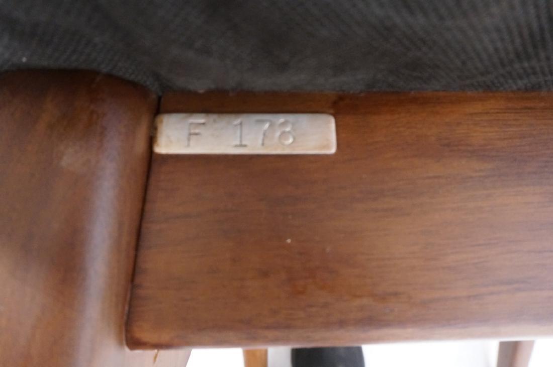 Pr Black Vinyl Tall Back Lounge Chairs Bowed Arms - 10