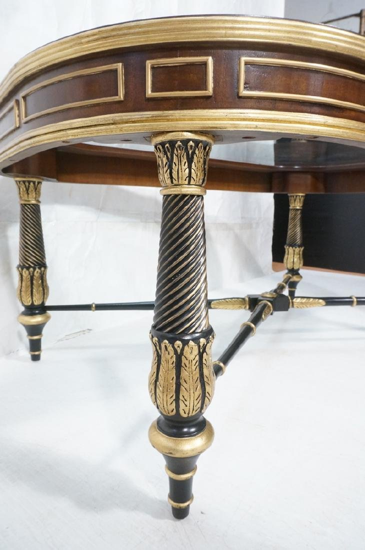 E.J. VICTOR Regency Style Cocktail Table. Inset b - 6