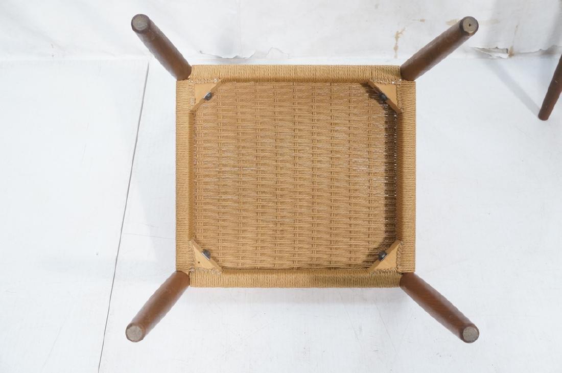 Set 4 Danish Modern Teak Dining Chairs. Woven rus - 8