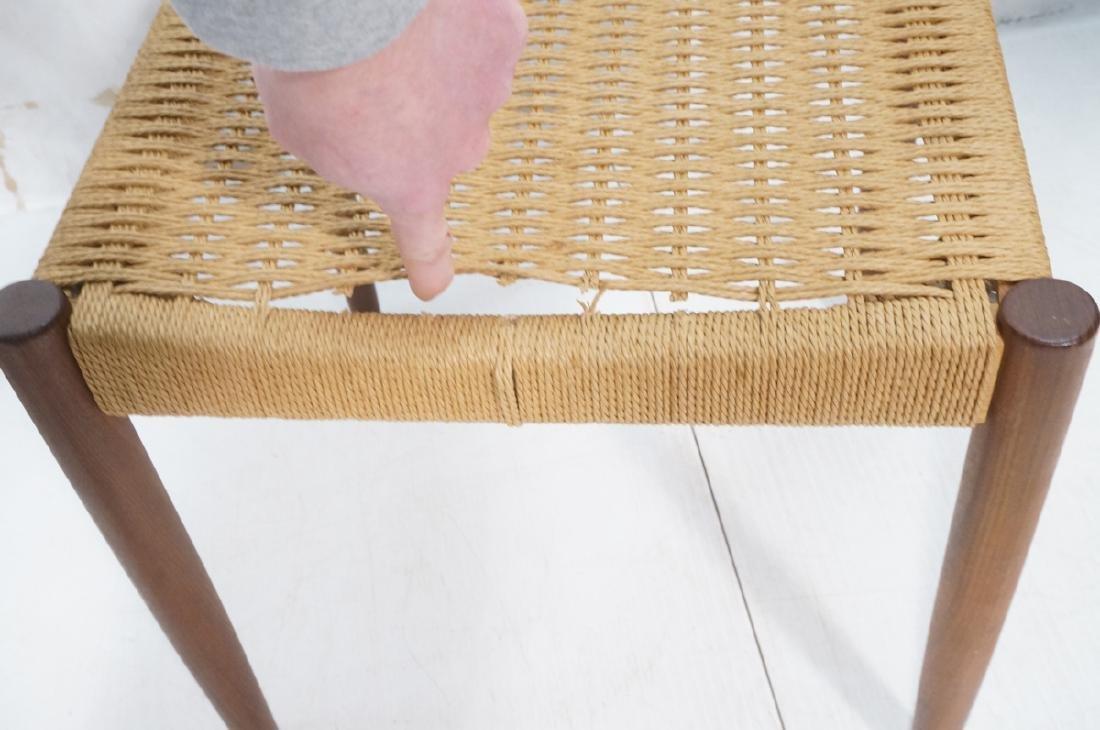 Set 4 Danish Modern Teak Dining Chairs. Woven rus - 9
