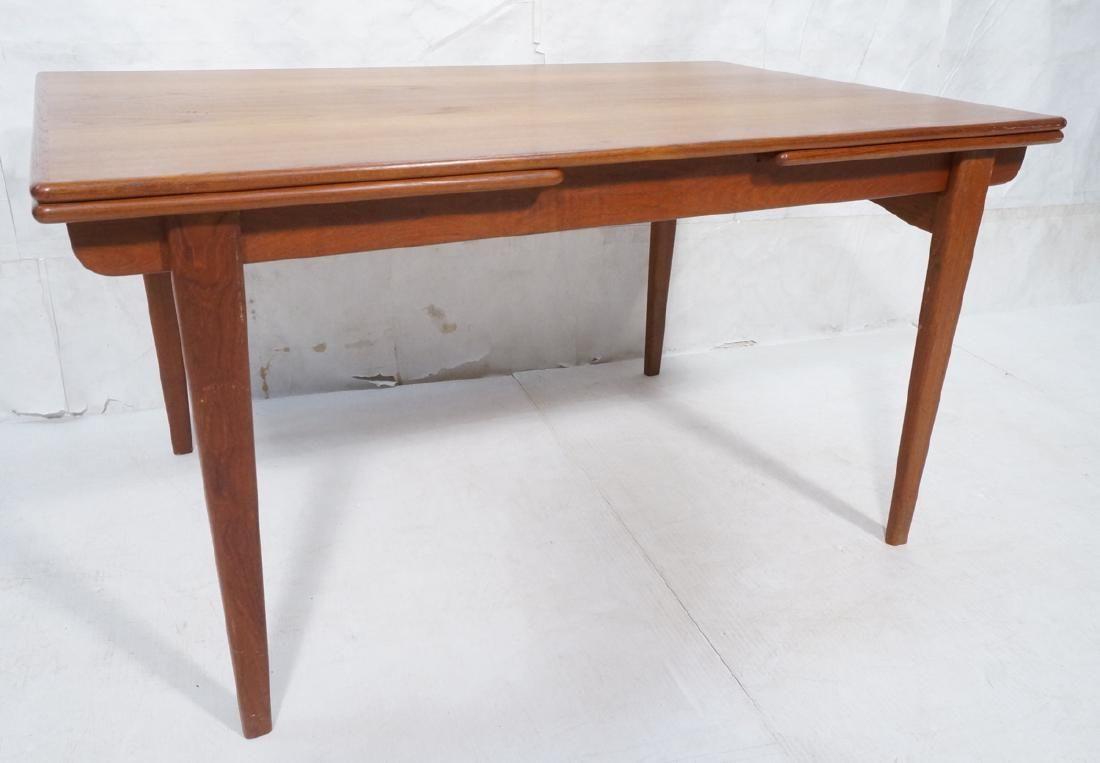 Danish Modern Teak Refractory Dining Table. Bande