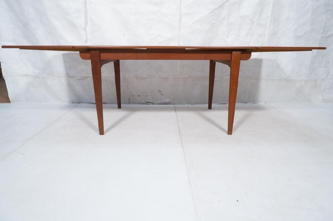 Danish Modern Teak Refractory Dining Table. Bande - 6