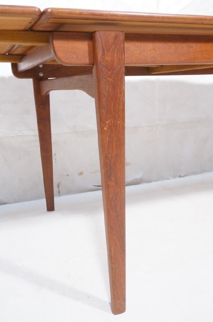 Danish Modern Teak Refractory Dining Table. Bande - 8