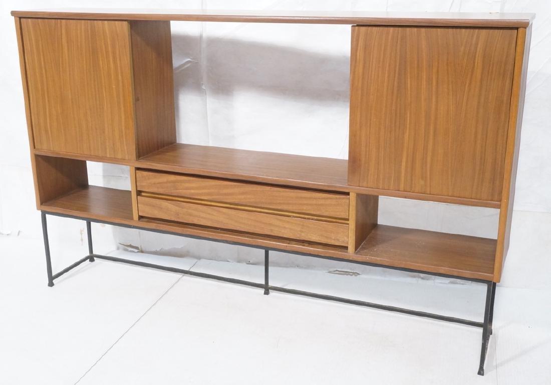 American Modern Walnut Cabinet Display Unit. 2 sl
