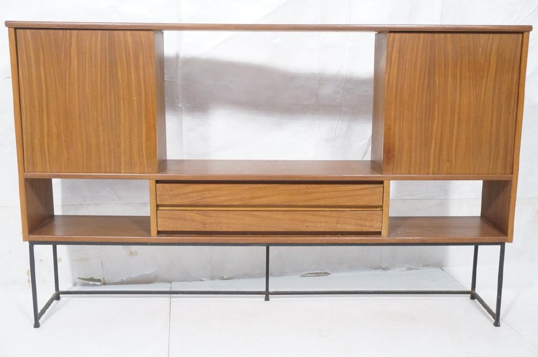 American Modern Walnut Cabinet Display Unit. 2 sl - 2
