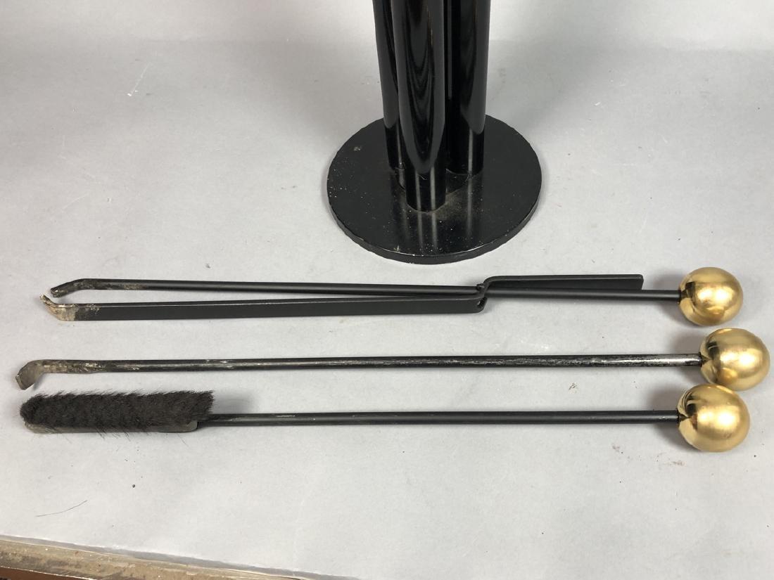 Unique Modern Metal Fireplace Tool Set. 3 hollow - 2