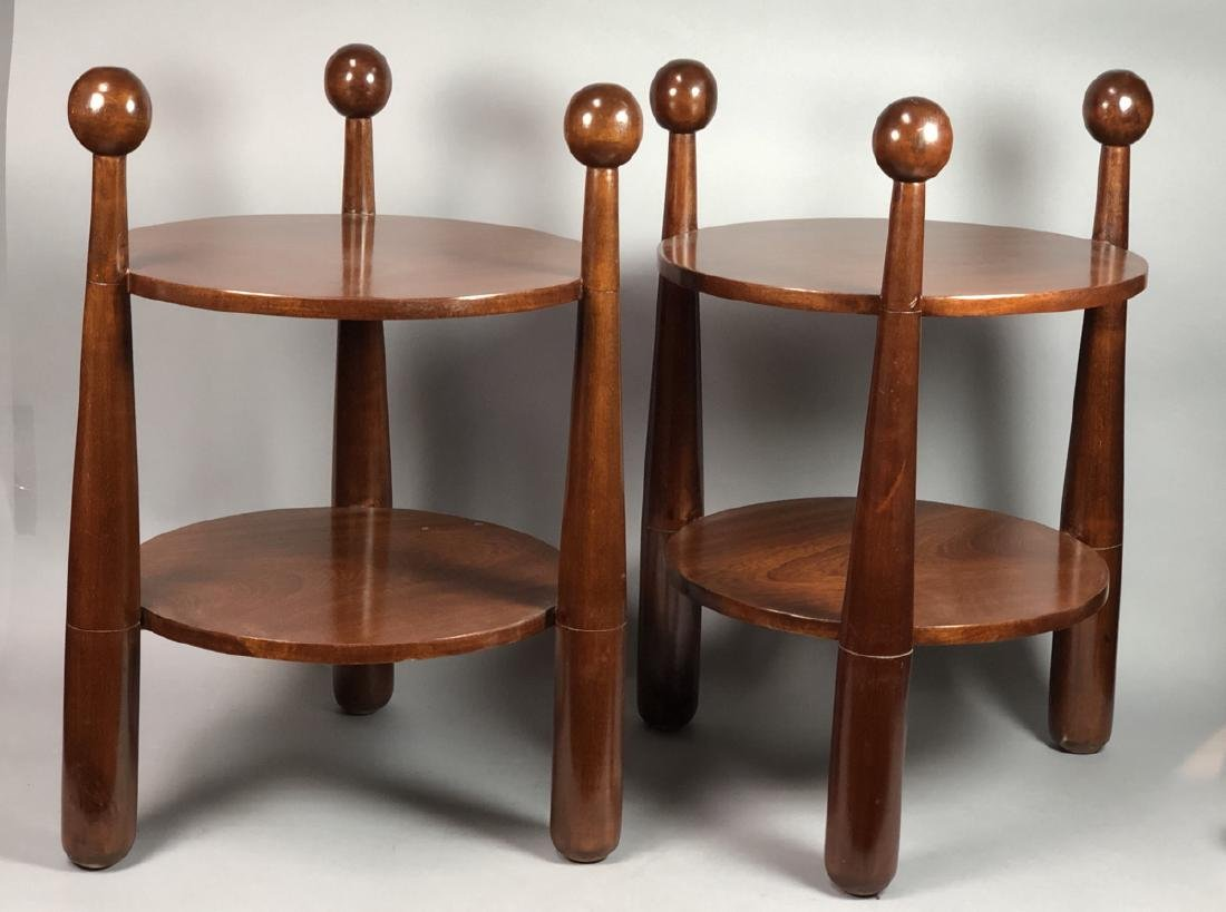 Pr Modern Jean Royere Style Side Tables. 2 circul