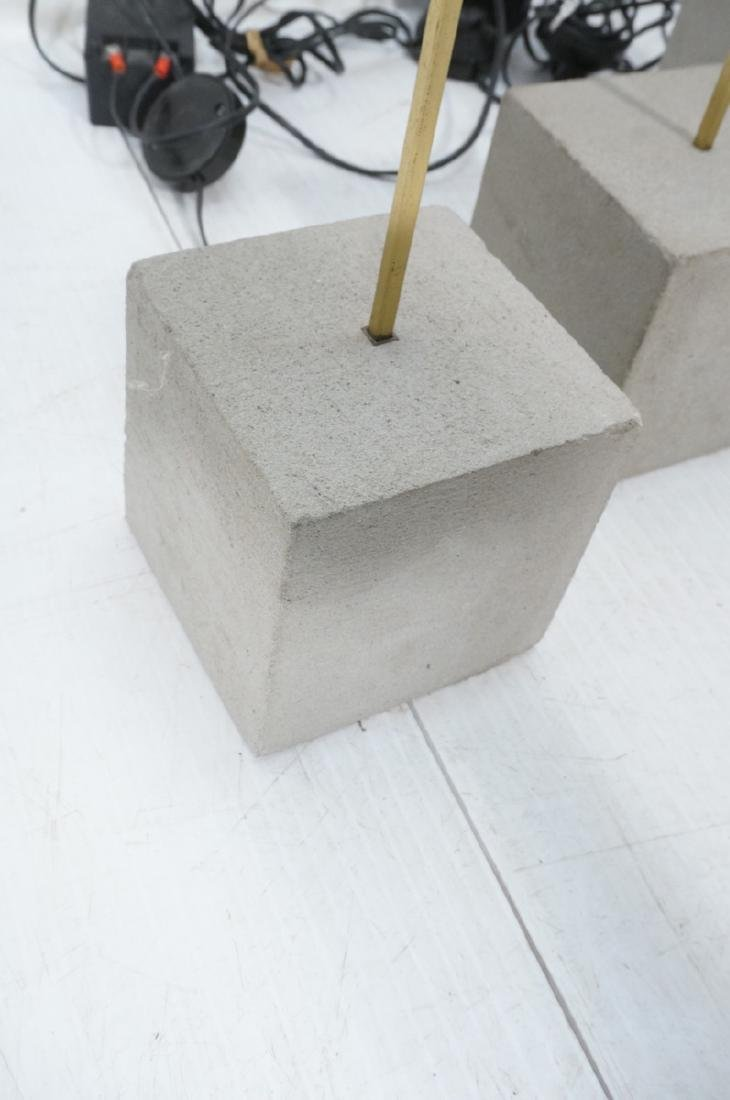 Set 3 Modern Concrete & Brass Floor Lamps. Minima - 3