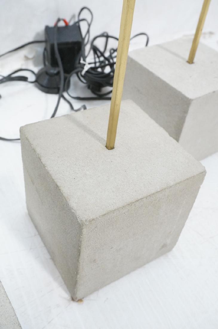 Set 3 Modern Concrete & Brass Floor Lamps. Minima - 4