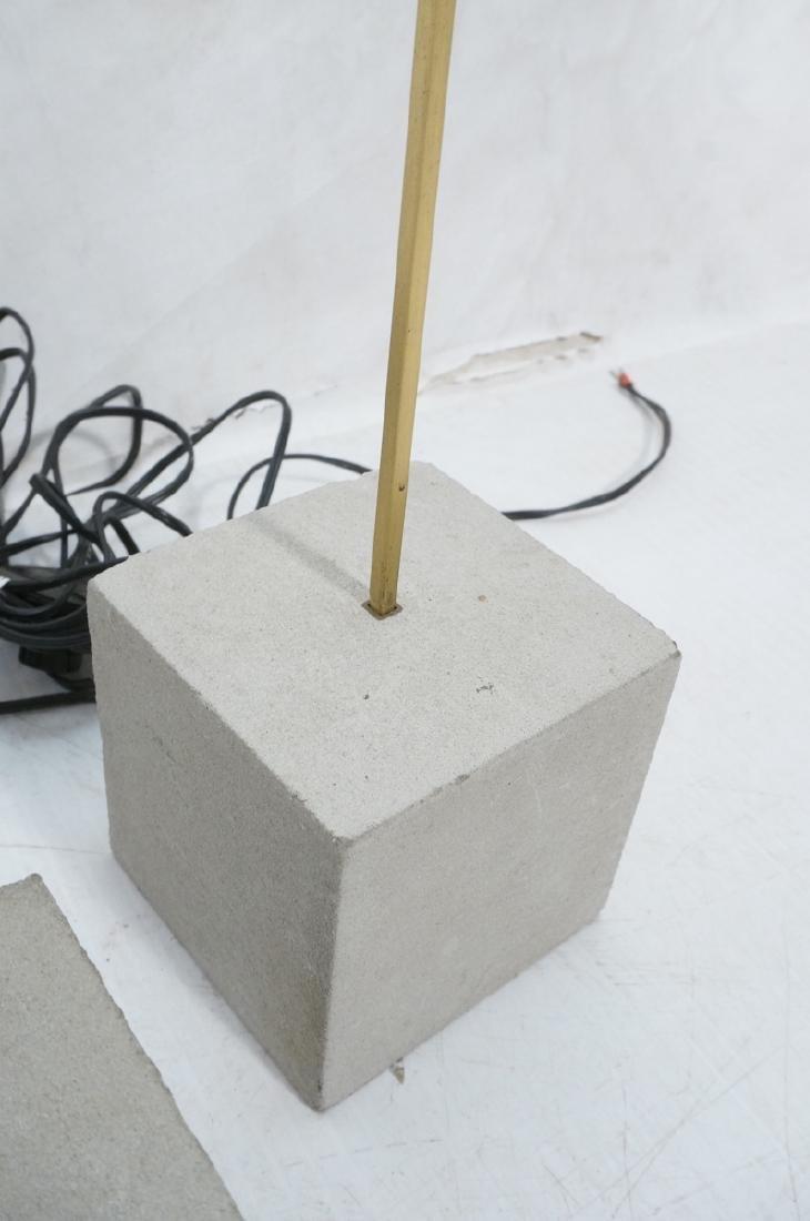 Set 3 Modern Concrete & Brass Floor Lamps. Minima - 5