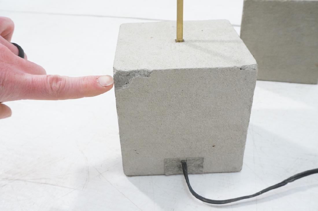 Set 3 Modern Concrete & Brass Floor Lamps. Minima - 8