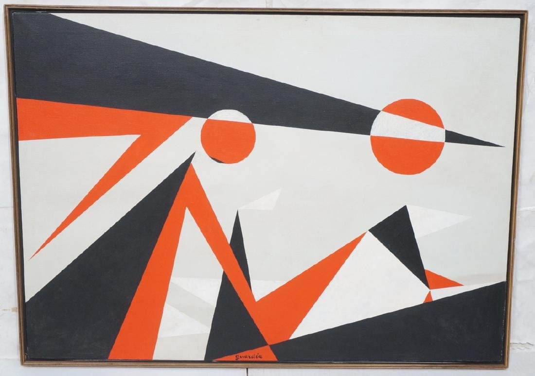 HELEN GERARDIA Modern Abstract Oil Painting. Geom