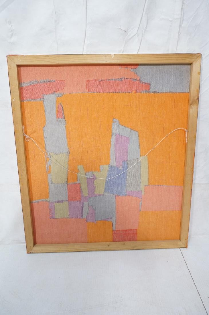 Modernist Abstract Framed Fabric. Colorful block - 7