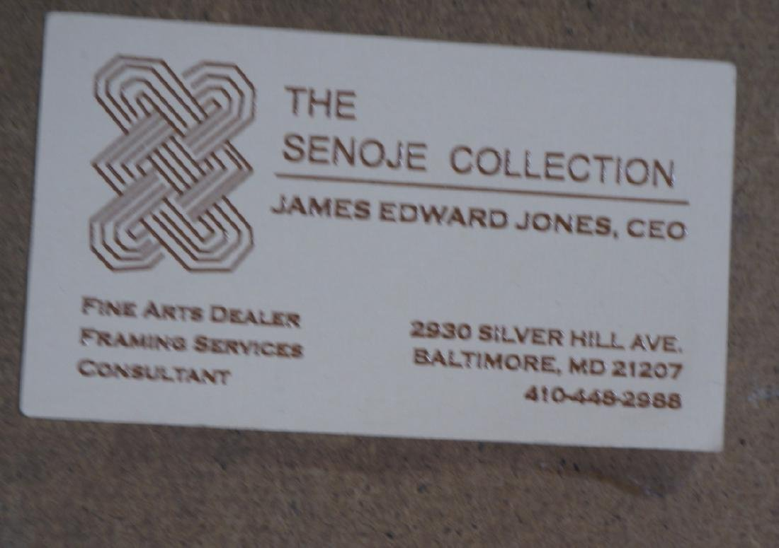 "JAMES EDWARD JONES Modernist Abstract Painting. "" - 10"