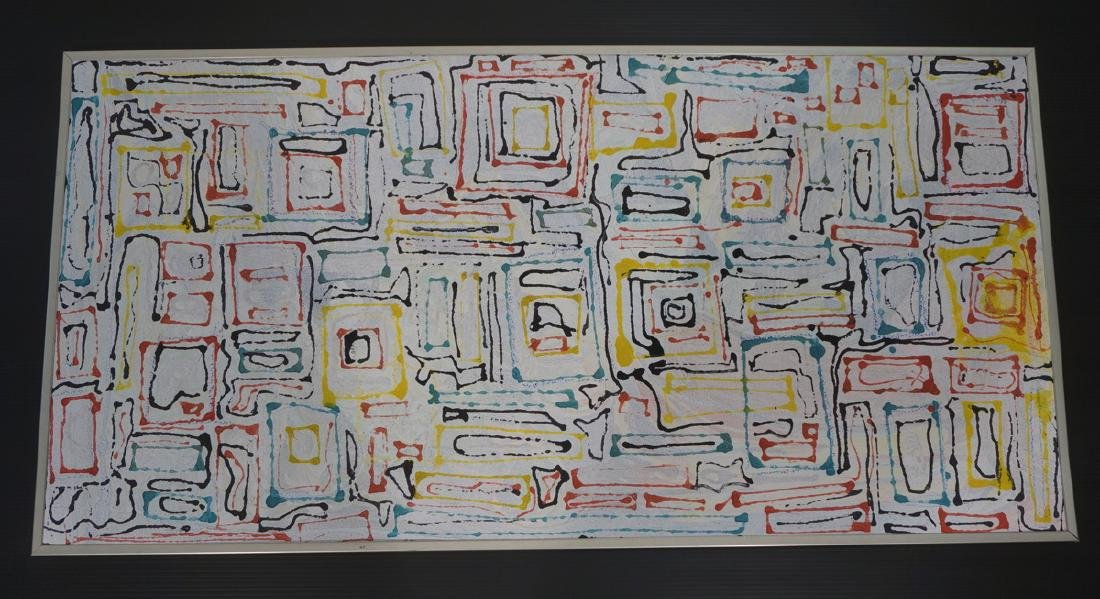 JAMES EDWARD JONES Modernist Abstract Painting. ""