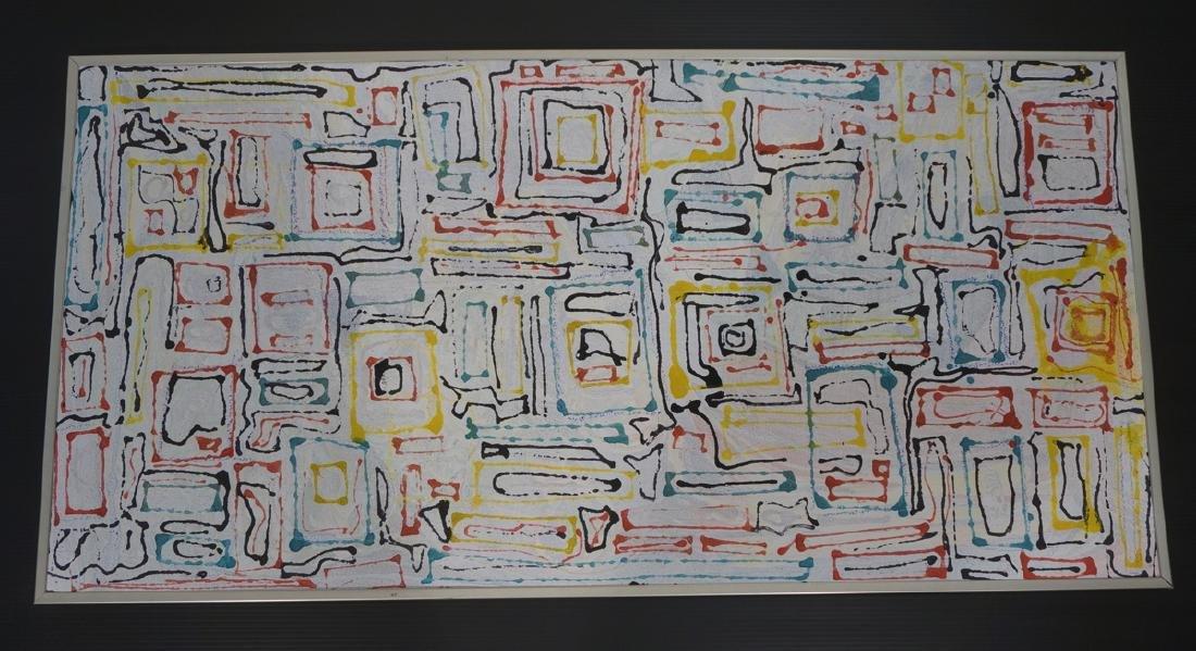 "JAMES EDWARD JONES Modernist Abstract Painting. """