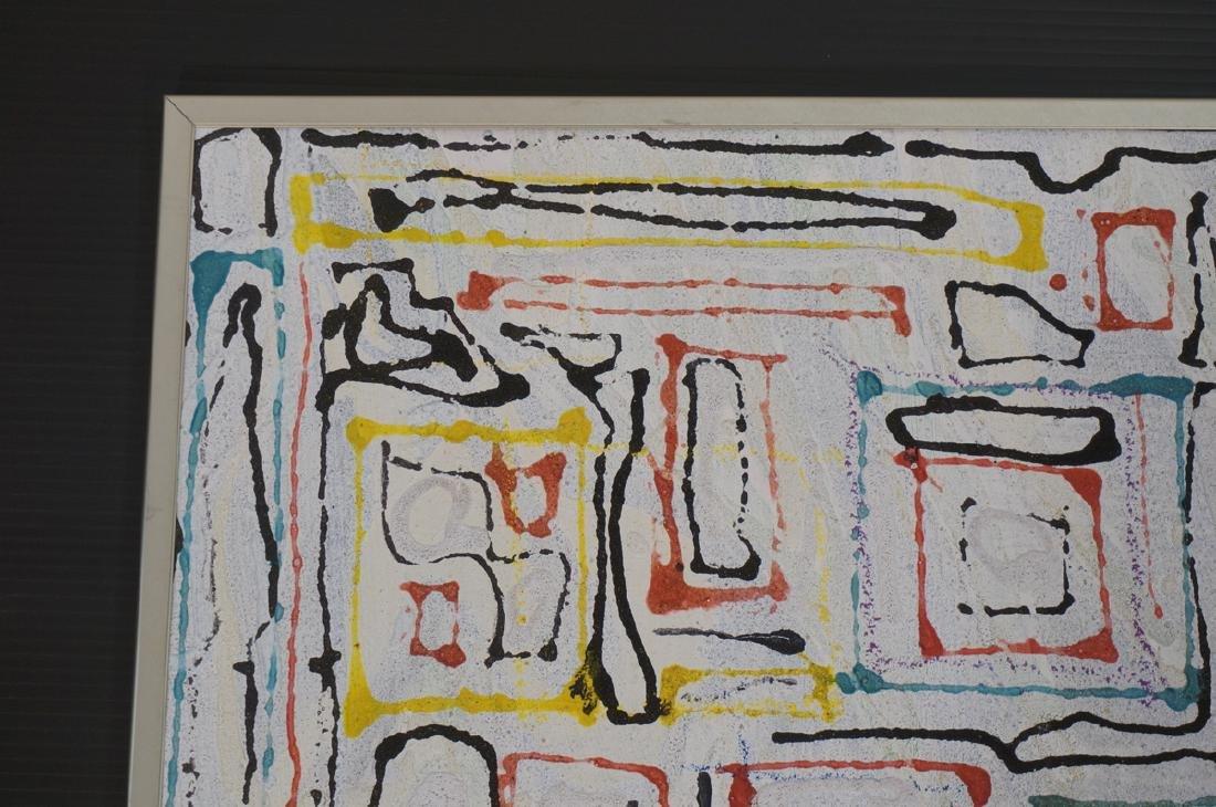 "JAMES EDWARD JONES Modernist Abstract Painting. "" - 2"