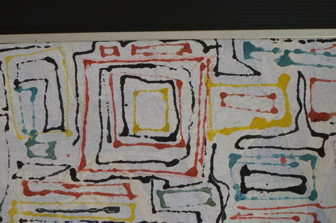 "JAMES EDWARD JONES Modernist Abstract Painting. "" - 3"